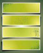 Set of banners with different shadows. — Stock Vector