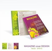 Magazine cover layout design vector — Stock Vector