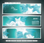 Stars Banner Set. Vector Illustration — Stock Vector