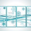 Modern banners with snowflakes — Stock Vector