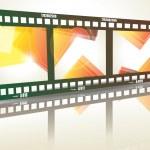 Old negative film strip — Stock Vector