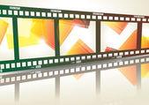 Antigua tira de película negativa — Vector de stock
