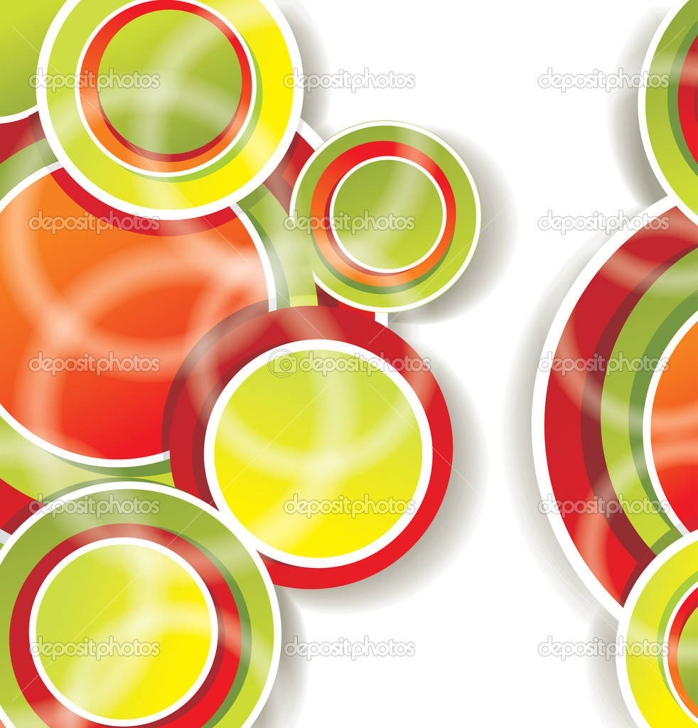 Abstract background with color circles — Stock Vector #8101972