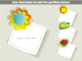 Collection of chat stickers — Stock Vector
