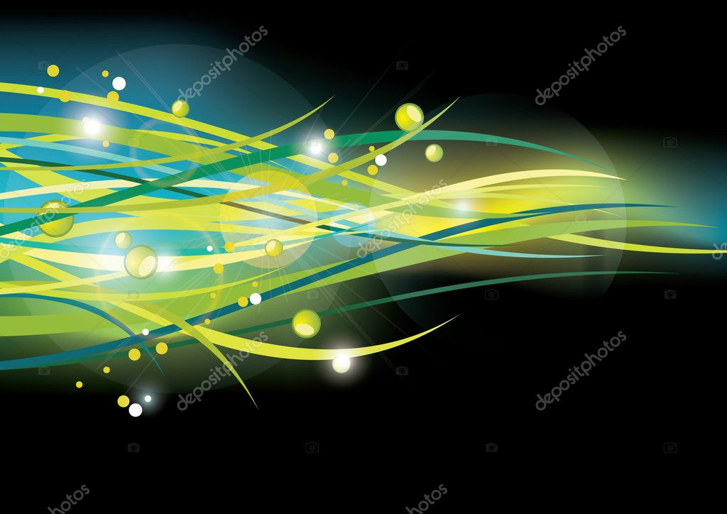 Green lines. Abstract vector background — Stock Vector #8858651
