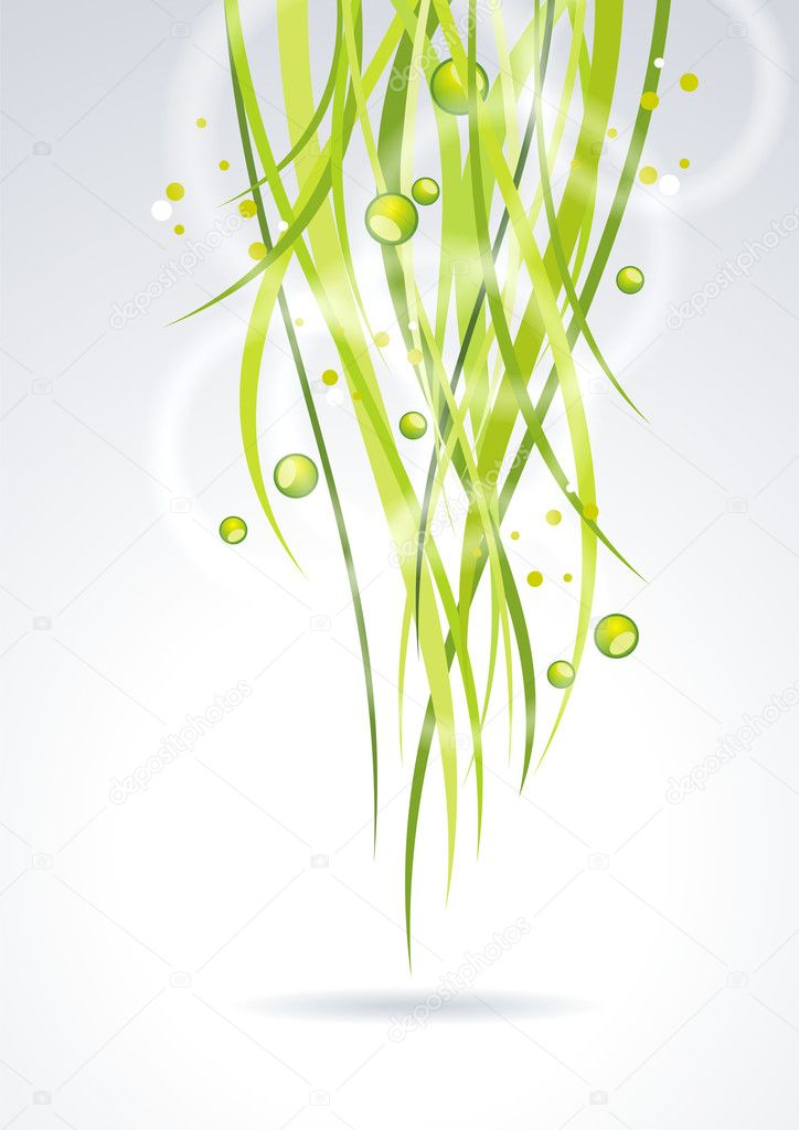 Green lines. Abstract vector background — Stock Vector #8858659