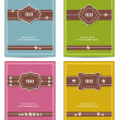 Old vintage book cover set - Stock Vector