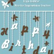 Funny Birthday card - Stock Vector