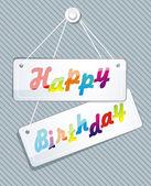 Doğum günü kartı gösteren resim — Stok Vektör