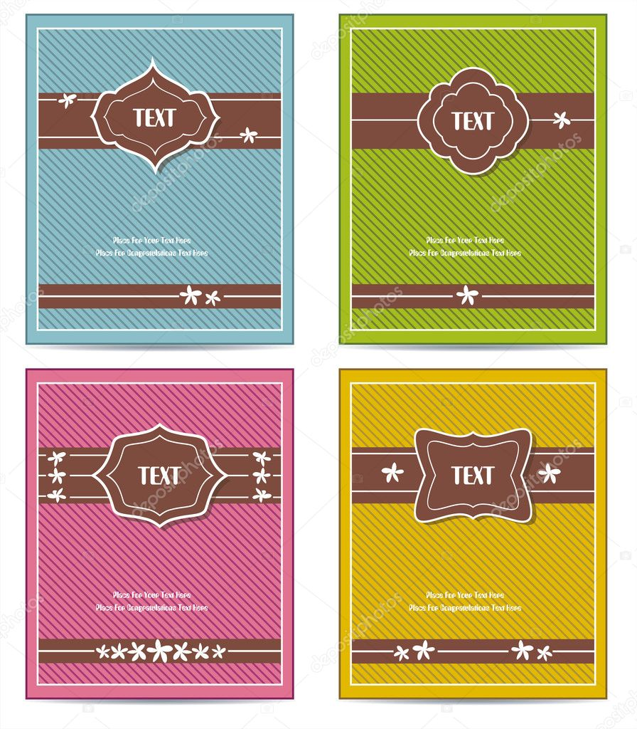 Classic Book Covers Vector ~ Old vintage book cover set — stock vector