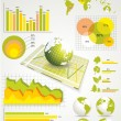 Ecology info graphics collection — Stock Vector #9186545