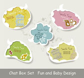 Vector Idea Bulbs. Baby Chat Bubbles — Stock Vector