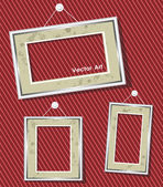 Antique picture frames — Stock Vector