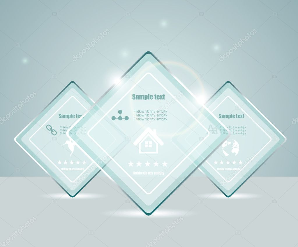 Eps10 glass transparent web box — Stock Vector #9565865