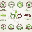 Set of organic and farm fresh food badges and labels — Imagen vectorial