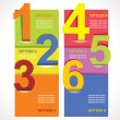 Design template numbered banners. — 图库矢量图片