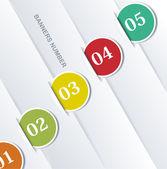 Plantilla de diseño numerado banners. — Vector de stock