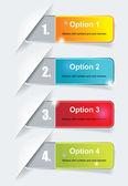 Modèle de conception numérotés de bannières. — Vecteur