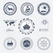 Royalty-Free Stock Vector Image: Set of vintage retro tourist badges and labels