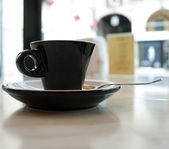 A cup of strong black coffee — Stock Photo