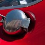 Automobile, chrome gas tank lid — Stock Photo #10667218