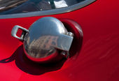 Automobile, chrome gas tank lid — Stock Photo