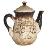 Beautiful clay teapot — Stock Photo
