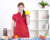 Woman working in the kitchen — Stock Photo