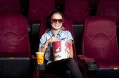 Watching cinema — Stock Photo