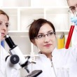 Portrait of a group of chemists — Stock Photo