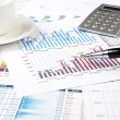 Charts, documents, blueprint — Stock Photo