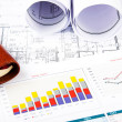 Charts, documents, blueprint — Stock Photo #10373916