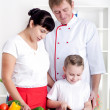 Royalty-Free Stock Photo: Family cooking together