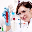 Portrait of a beautiful woman chemist — Stock Photo #10584176