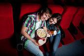 Casal no cinema — Foto Stock