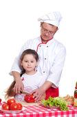 Padre e figlia, cucinare insieme — Foto Stock