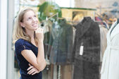 Young woman in mall — Stock Photo