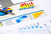 Charts, documents, business stilllife — Stock Photo