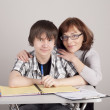 Mother and son are together and smile — Stock Photo #9029297