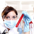 Chemist working in the laboratory — Stock Photo
