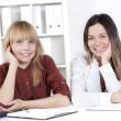 Portrait of beautiful business women — Stock Photo