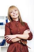Portrait of beautiful business woman — Stock Photo