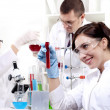 Stock Photo: Portrait of group of chemists