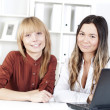 Portrait of beautiful business women — Stock Photo #9850069