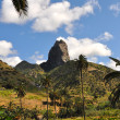 Tropical landscape of la gomera island — Stock Photo