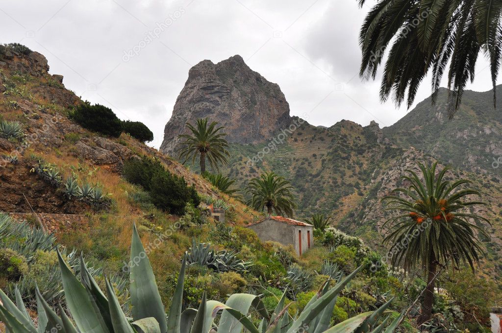 Landscape of la gomera island — Stock Photo #9424263