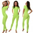 Sexy Sporty Girl in light green Fitness Suit — Stock Photo #8875712