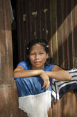 A young indigenous woman in the Amazon — Stock Photo