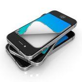 Unzipped Smartphones — Stock Photo