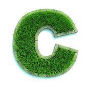 Lettera di erba — Foto Stock